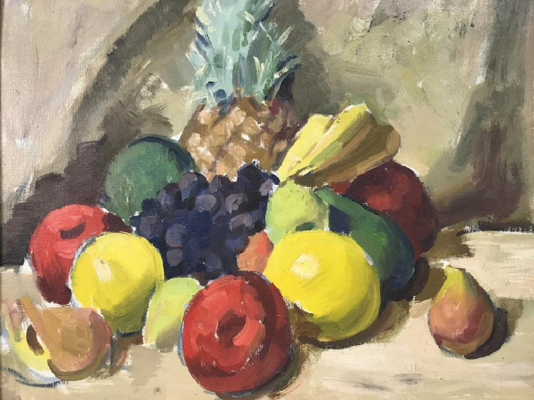 Framed Painting Of Fruit On Canvas - 3