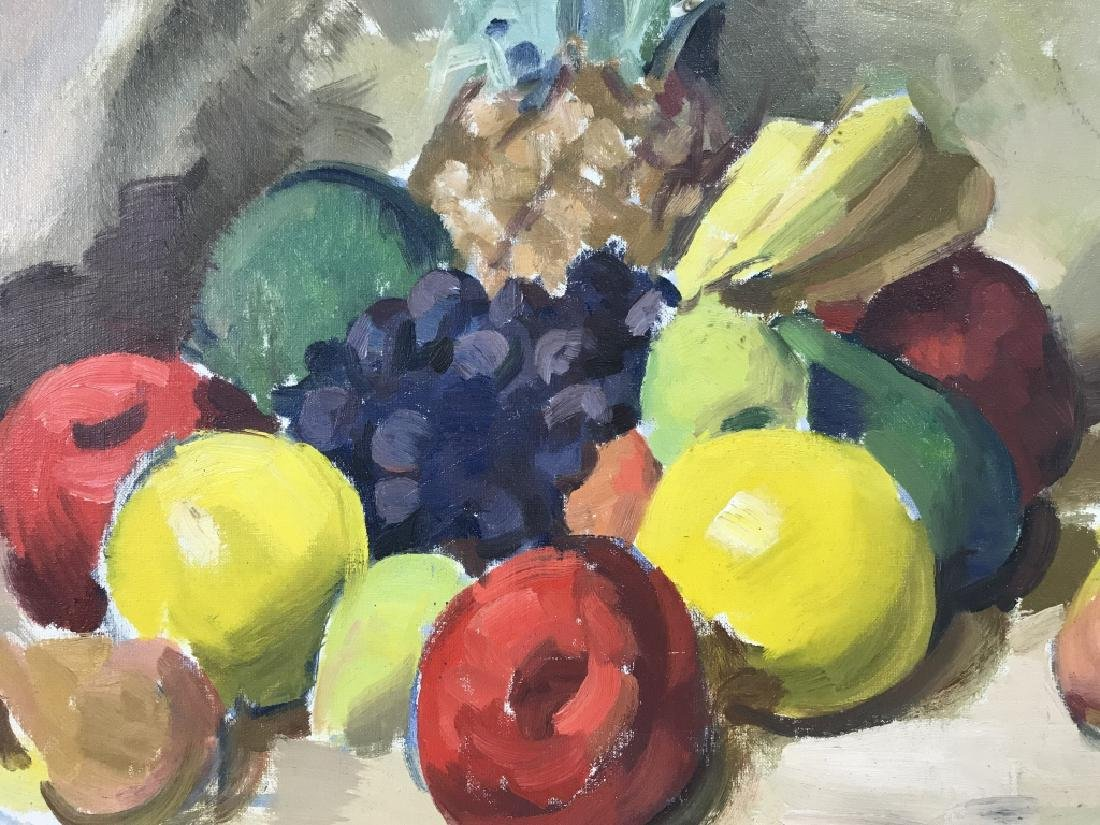 Framed Painting Of Fruit On Canvas - 4