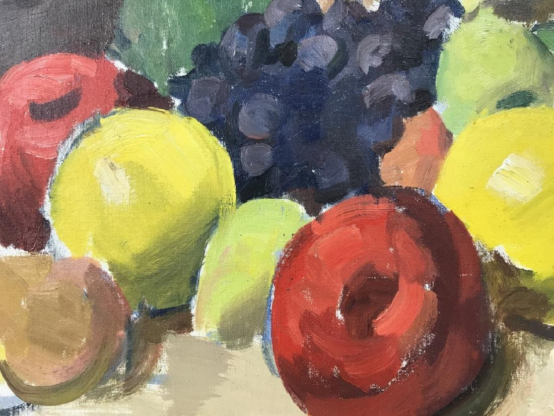 Framed Painting Of Fruit On Canvas - 5