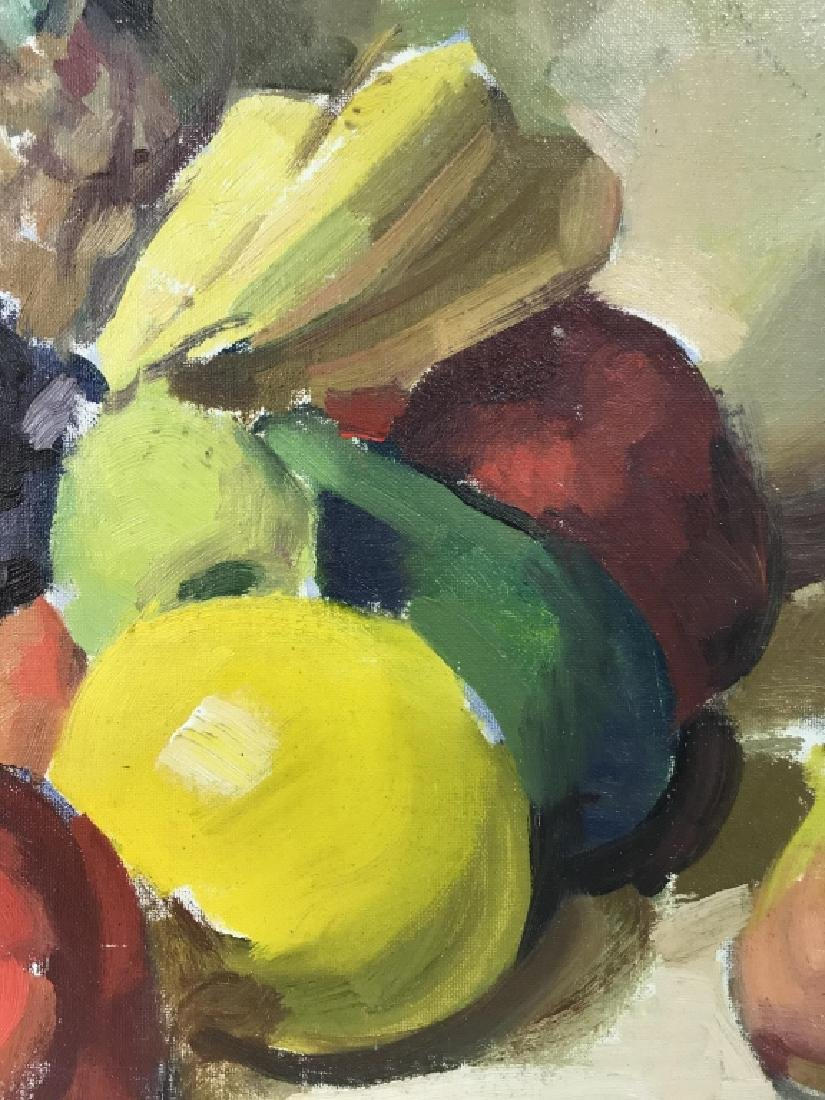 Framed Painting Of Fruit On Canvas - 6