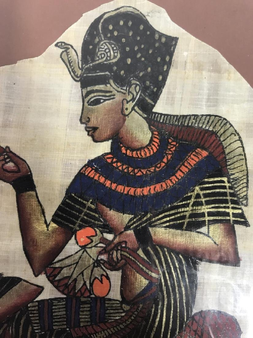 Lot 2 Egyptian Style Paintings On Paper - 6