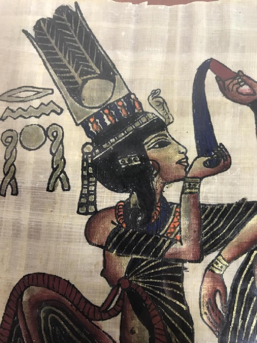 Lot 2 Egyptian Style Paintings On Paper - 7