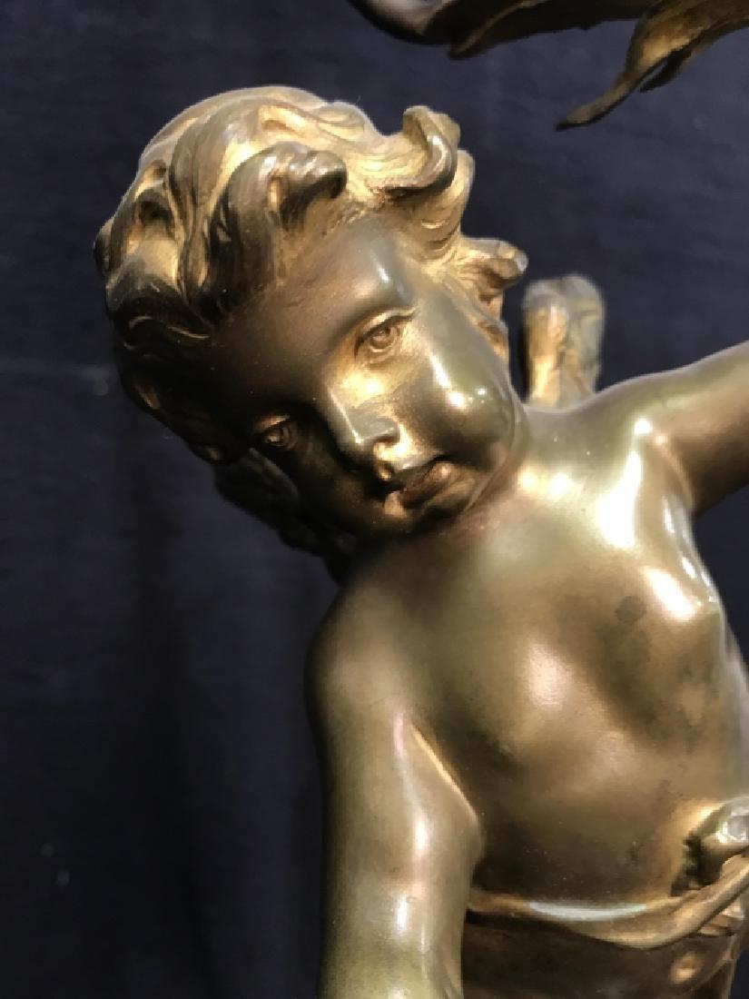 Brass & Poss Marble Cherub Lamp - 10