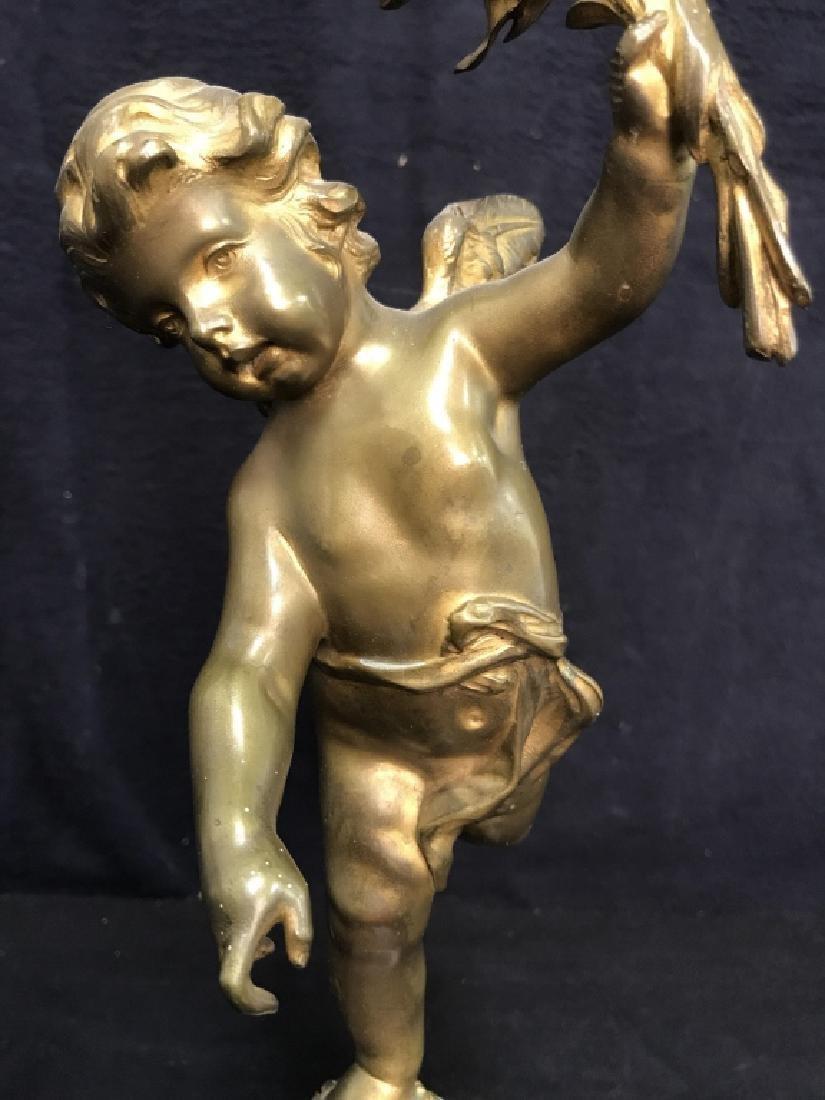 Brass & Poss Marble Cherub Lamp - 5