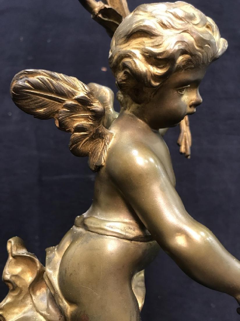 Brass & Poss Marble Cherub Lamp - 7