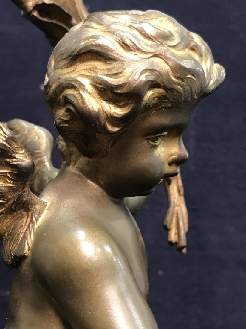 Brass & Poss Marble Cherub Lamp - 8
