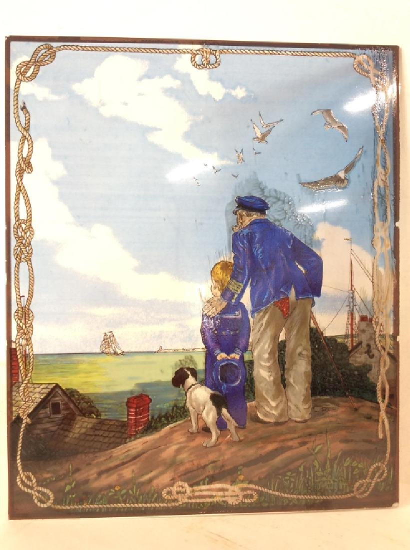 Norman Rockwell Stained Glass Art Reproduction