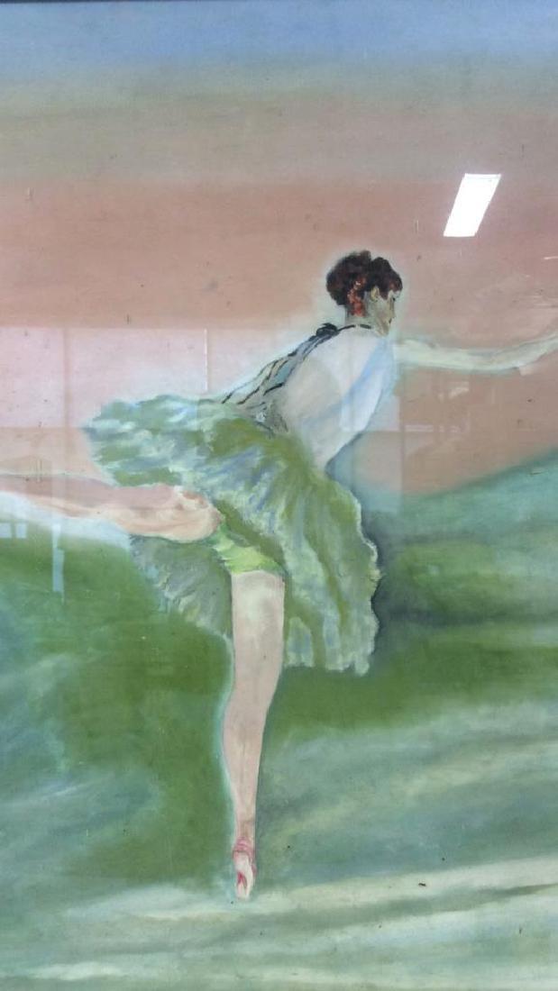 Beuigini Signed Framed Ballerina Painting - 2