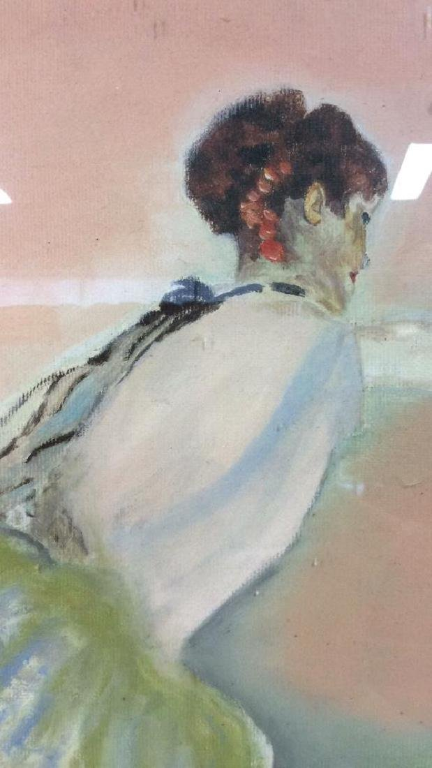 Beuigini Signed Framed Ballerina Painting - 3