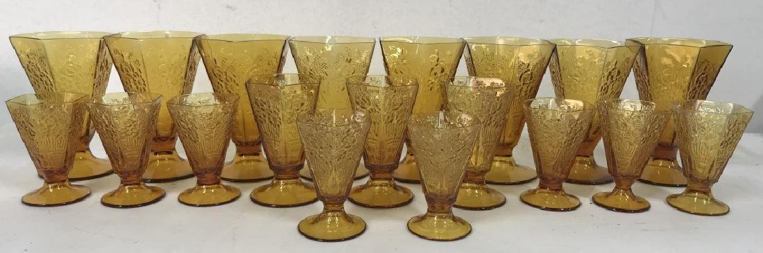 Lot 19 Amber Toned Glass Ice Cream Cups