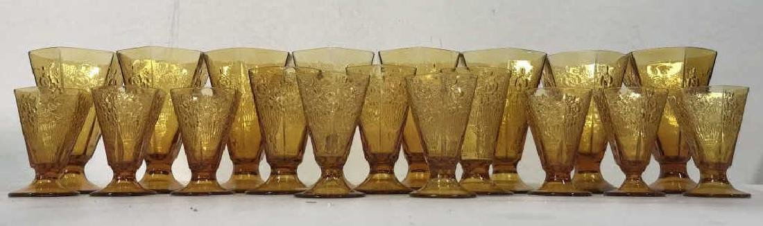 Lot 19 Amber Toned Glass Ice Cream Cups - 2