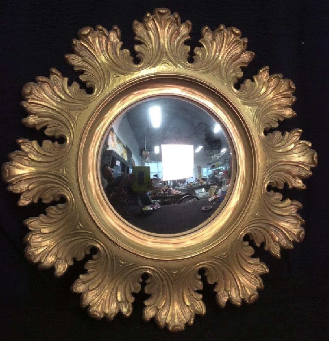 Circular Composite Suburst Wall Mirror