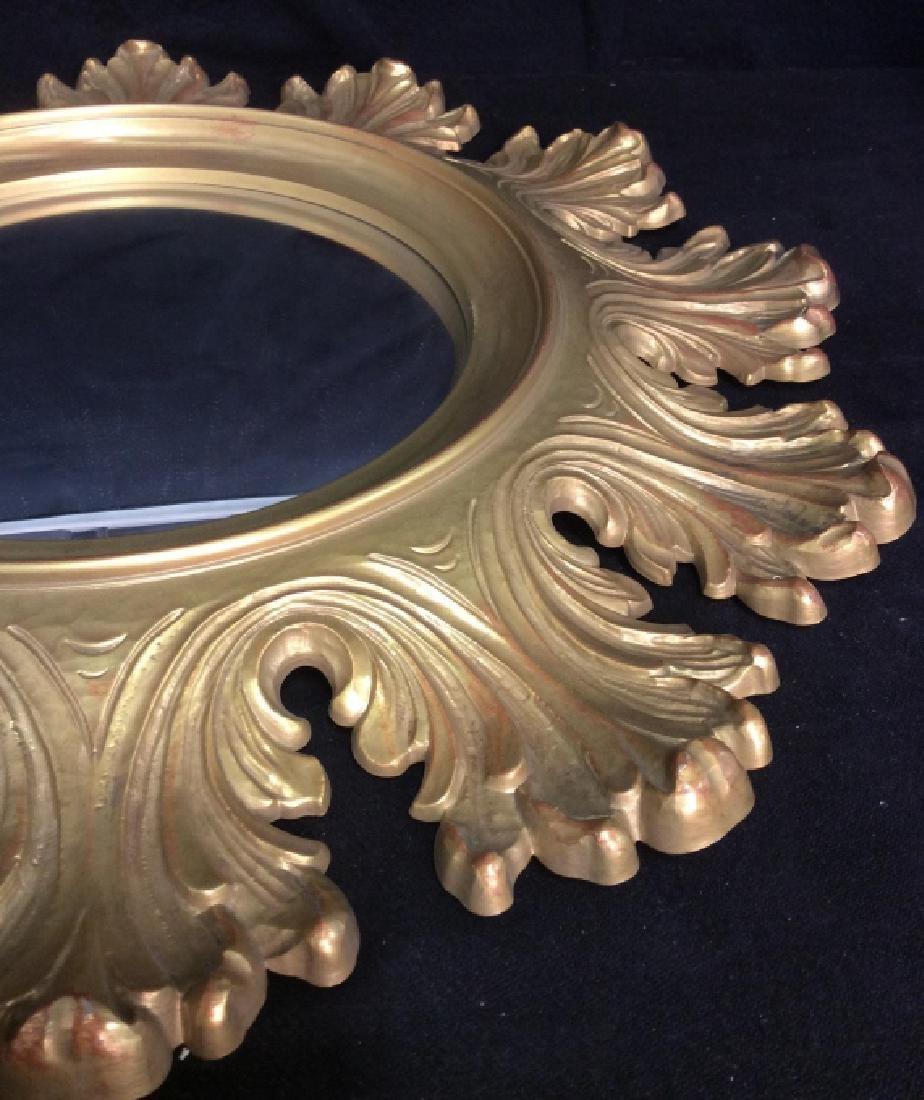 Circular Composite Suburst Wall Mirror - 5