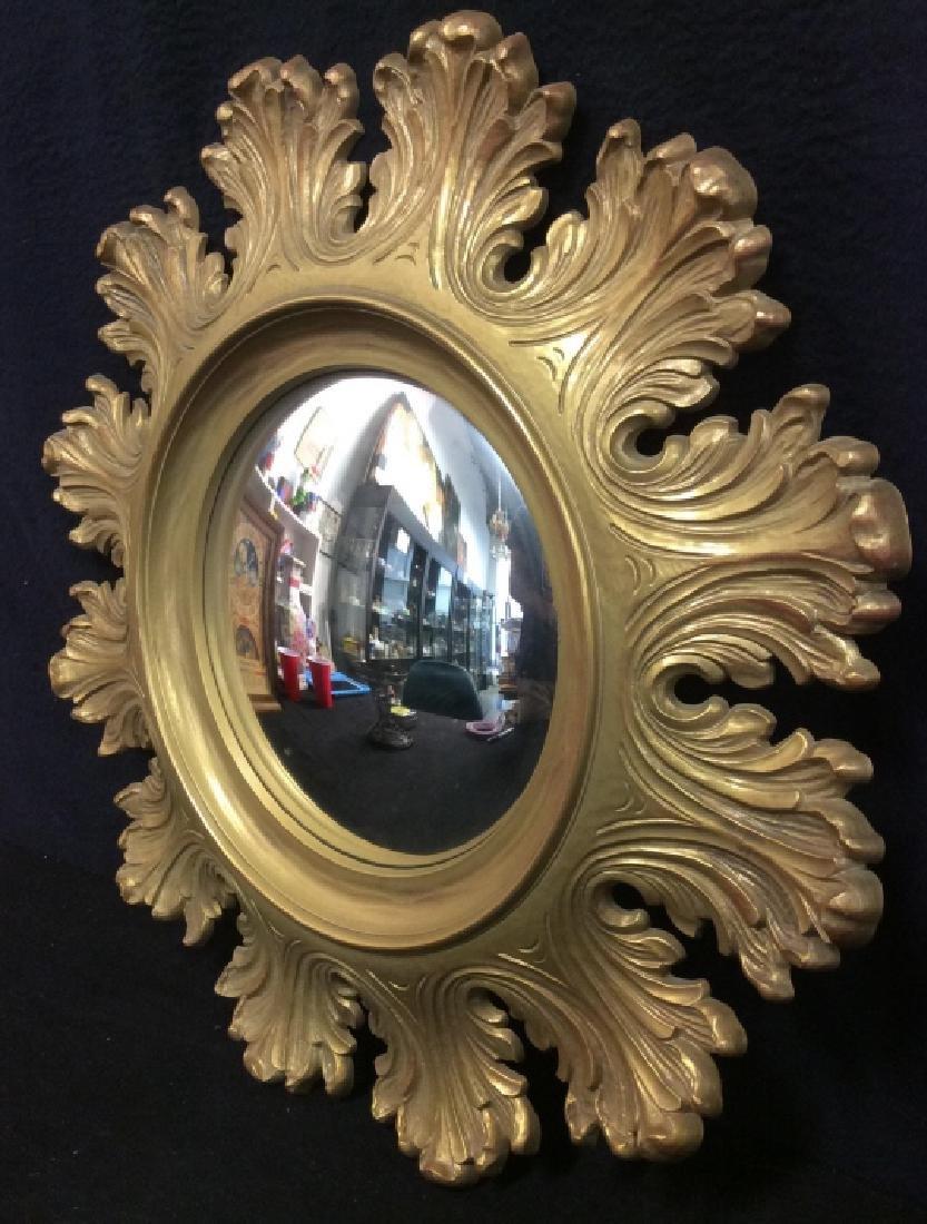 Circular Composite Suburst Wall Mirror - 7