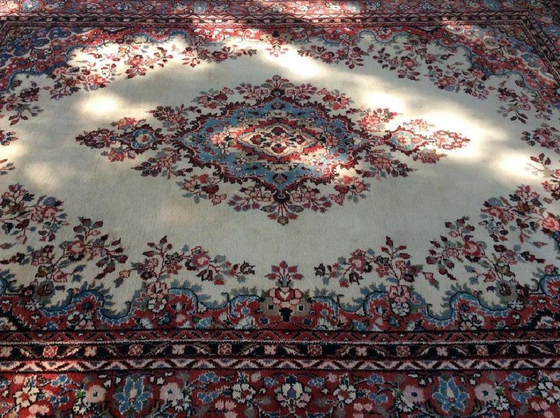 Intricately Detailed Handmade Wool Pile Rug - 2