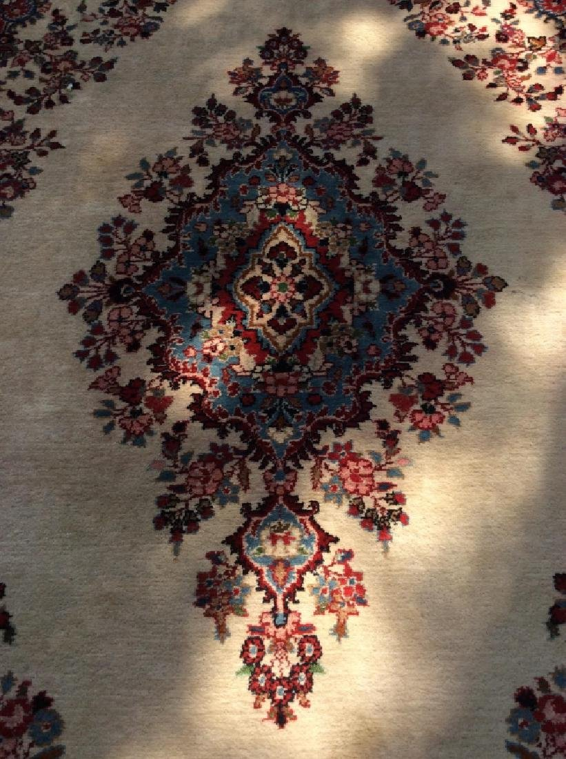 Intricately Detailed Handmade Wool Pile Rug - 3