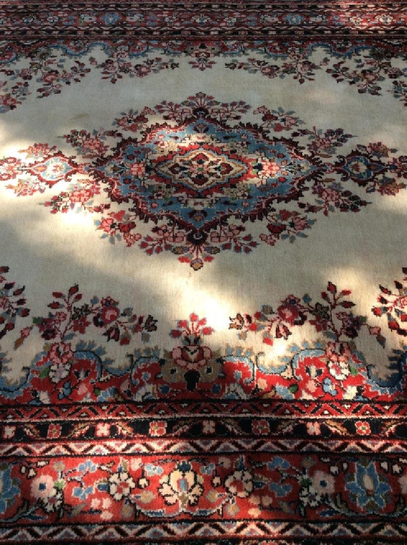Intricately Detailed Handmade Wool Pile Rug - 6