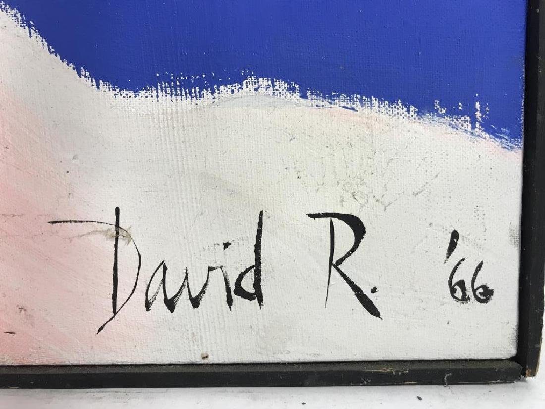 DAVID RAYMOND Signed Painting On Canvas - 6