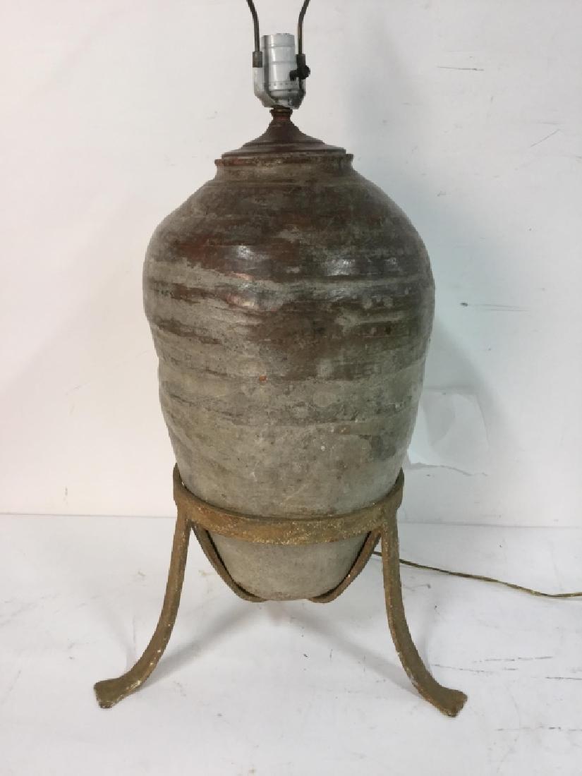 19th C Mediterranean Terracotta Jar Lamp - 9