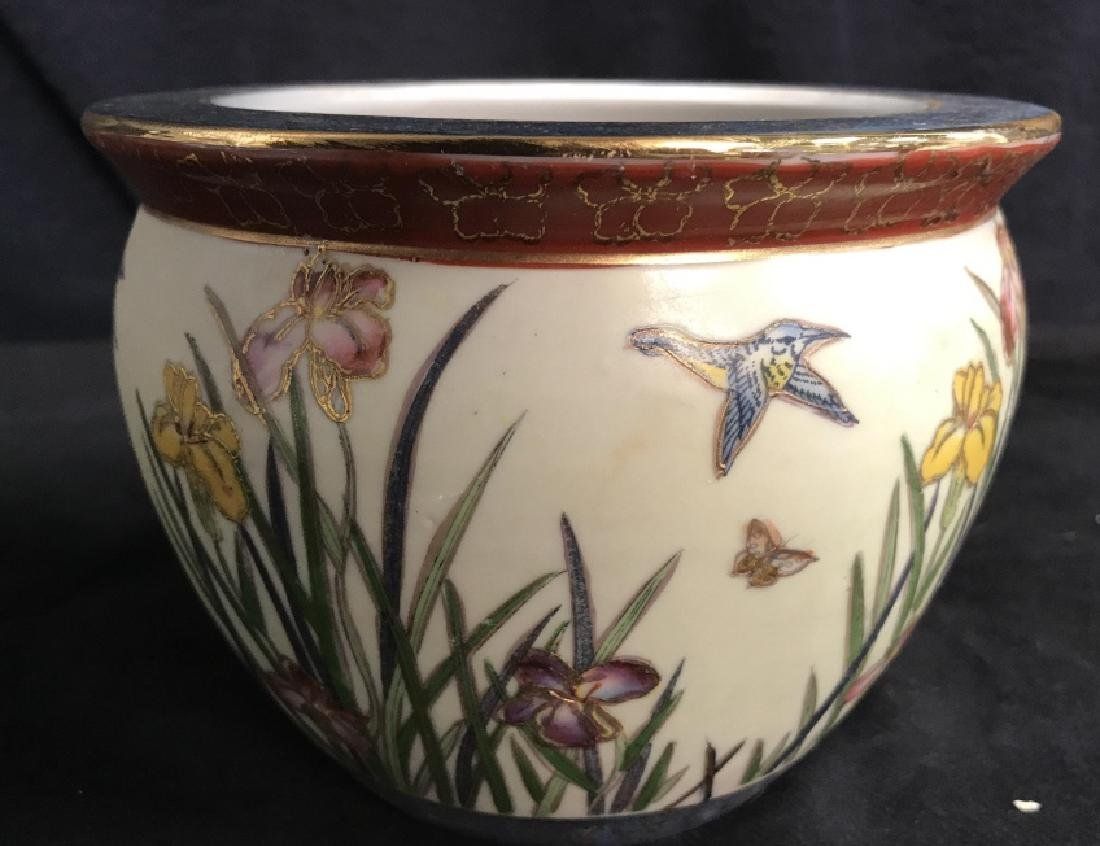 Intricately Detailed Asian Painted Planter
