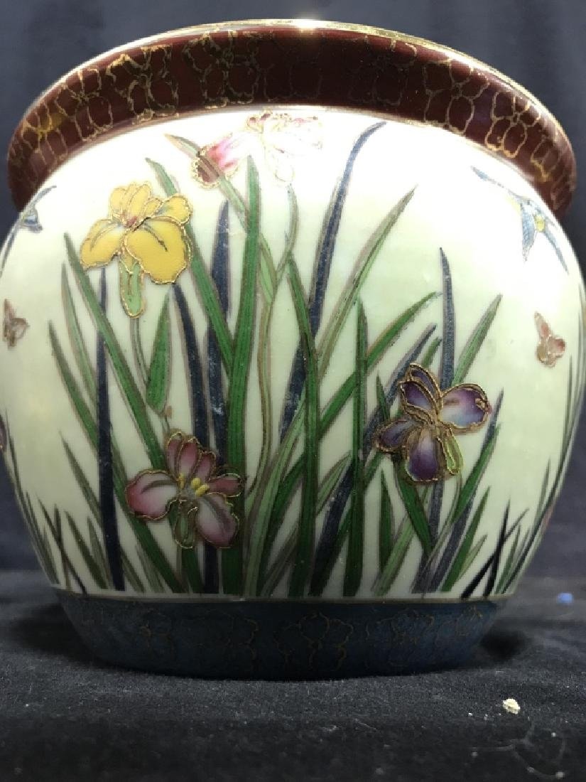 Intricately Detailed Asian Painted Planter - 3