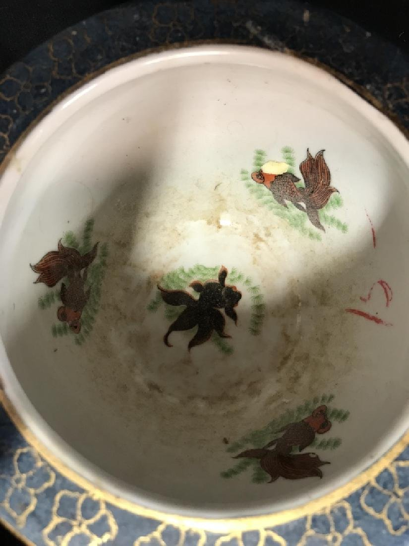 Intricately Detailed Asian Painted Planter - 6