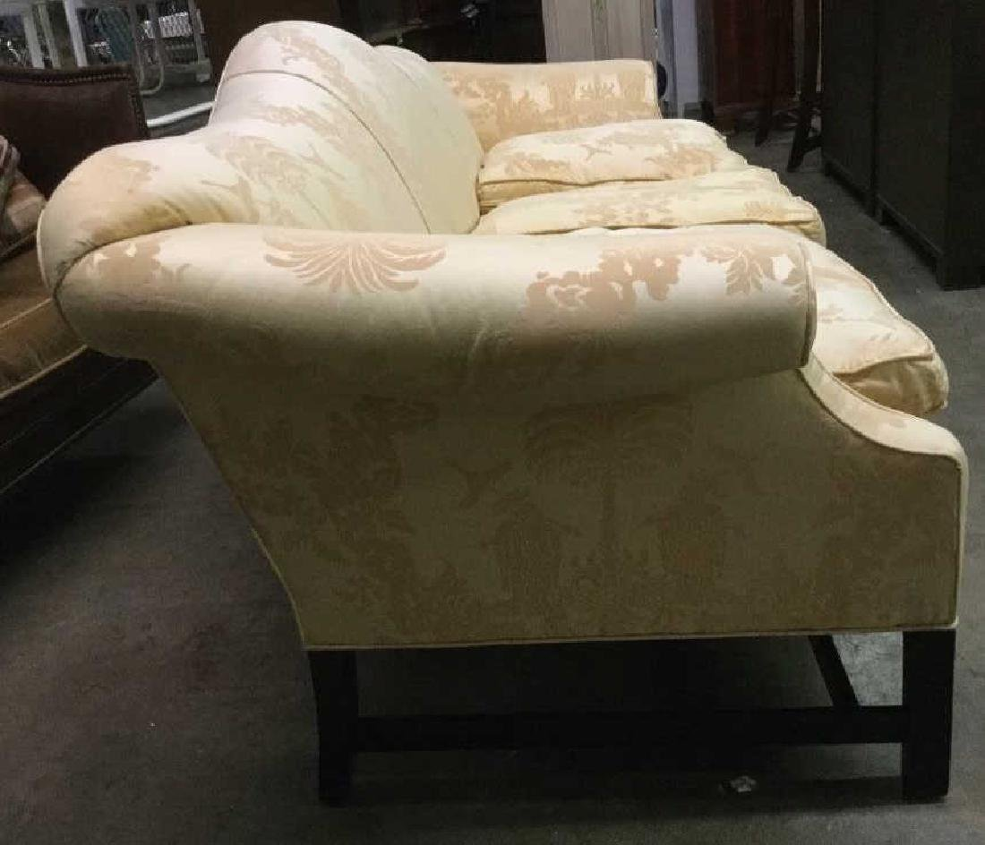 Gold Toned Camel Back Chippendale Style Sofa - 5