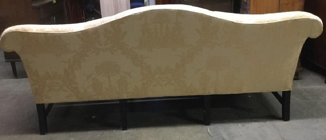 Gold Toned Camel Back Chippendale Style Sofa - 6