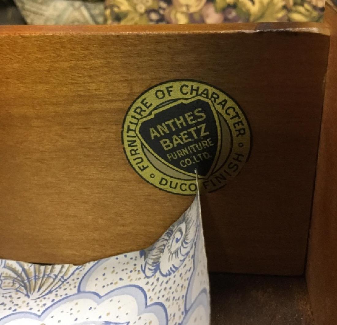 Vintage Wooden Pedestal Table W Drawer - 5