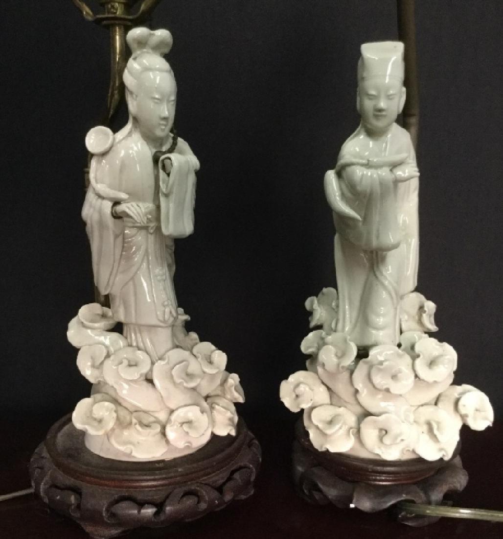 Pair VIntage Asian Porcelain Lamps