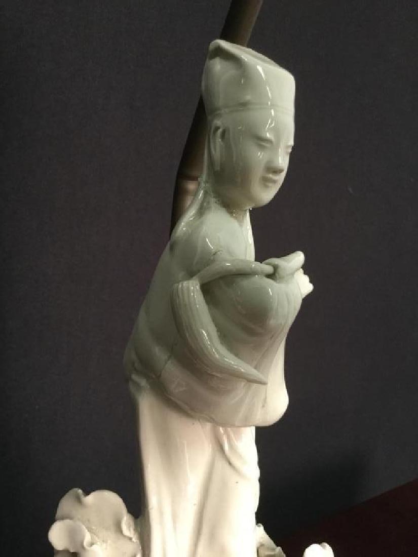 Pair VIntage Asian Porcelain Lamps - 5