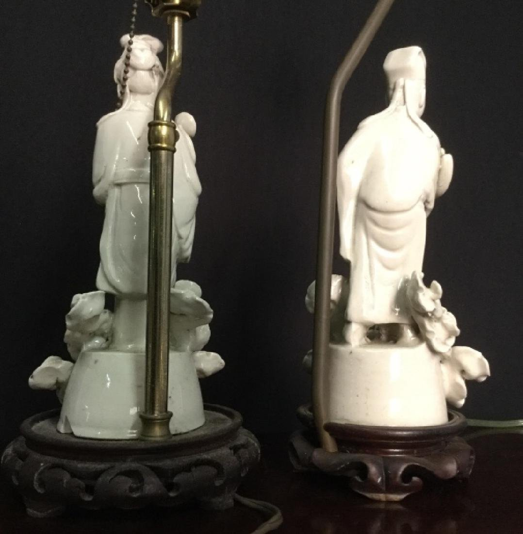 Pair VIntage Asian Porcelain Lamps - 7