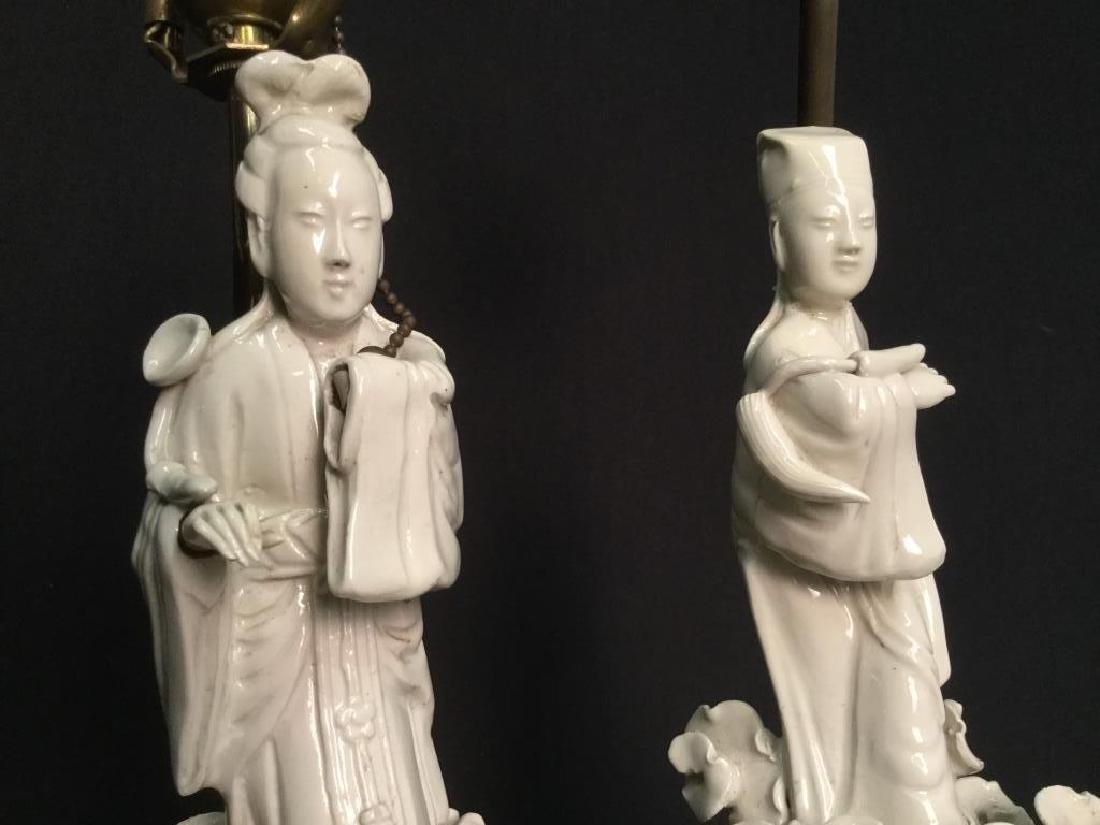 Pair VIntage Asian Porcelain Lamps - 8