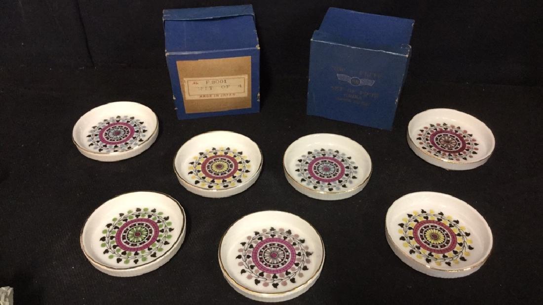 Lot 7 Vintage Japanese Porcelain Ceramic Coasters - 2