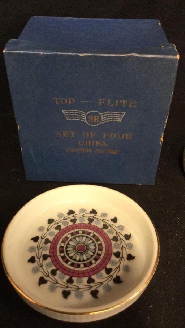 Lot 7 Vintage Japanese Porcelain Ceramic Coasters - 3