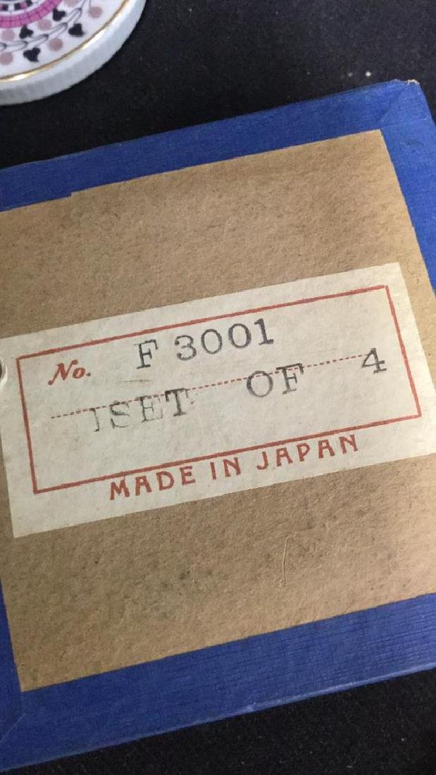 Lot 7 Vintage Japanese Porcelain Ceramic Coasters - 4