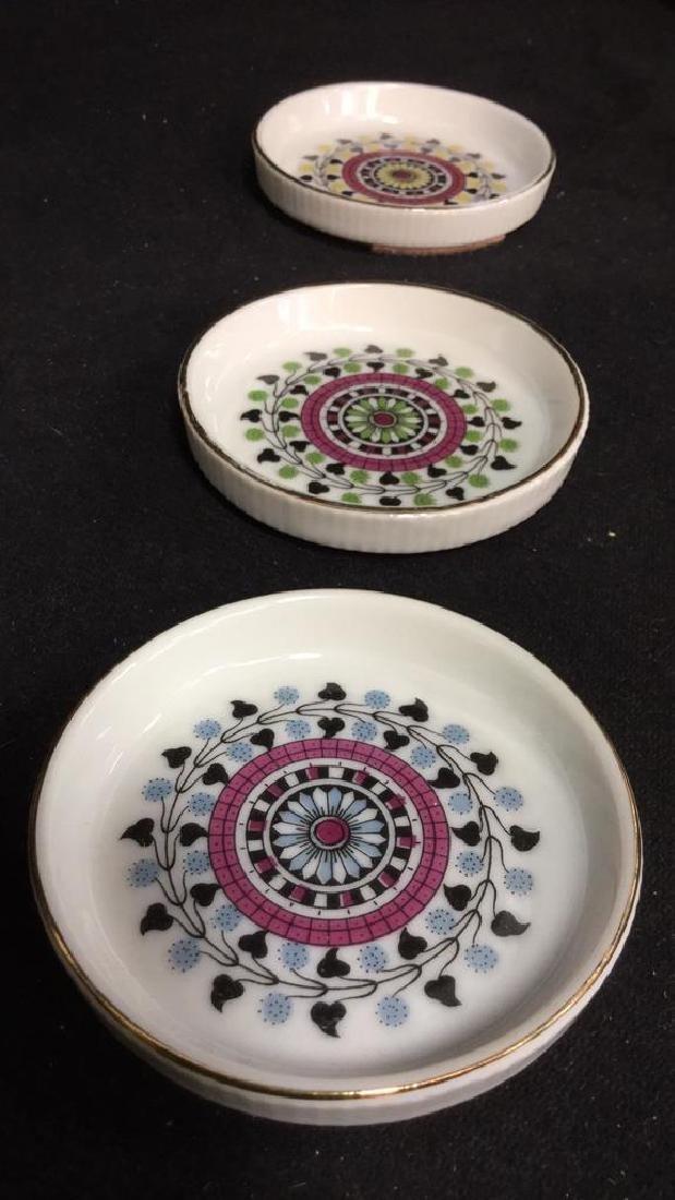 Lot 7 Vintage Japanese Porcelain Ceramic Coasters - 8