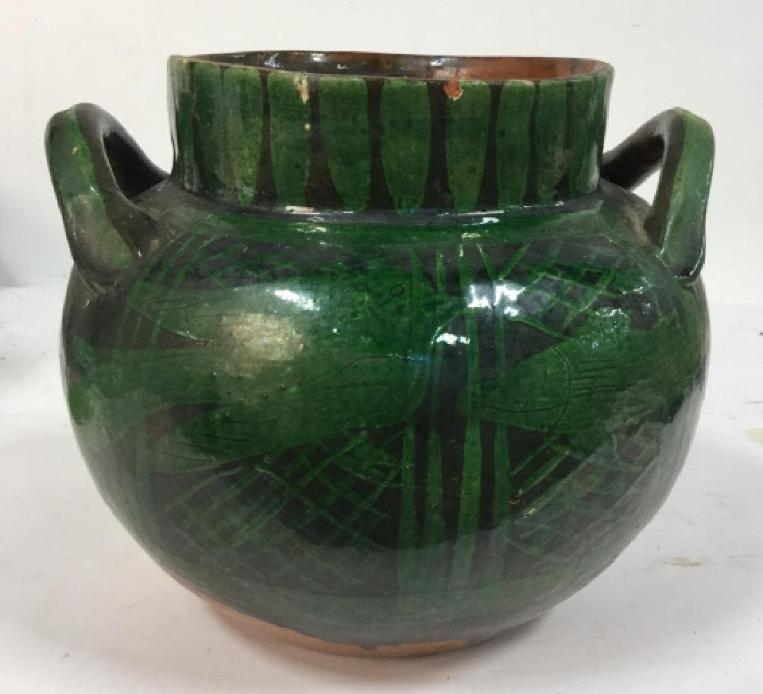 Hand Painted Ceramic Jug Handled Vase - 2