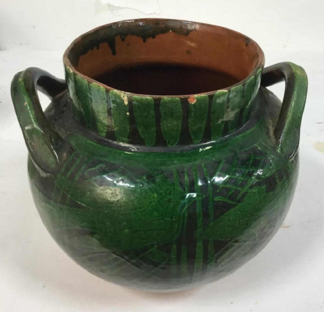 Hand Painted Ceramic Jug Handled Vase - 3