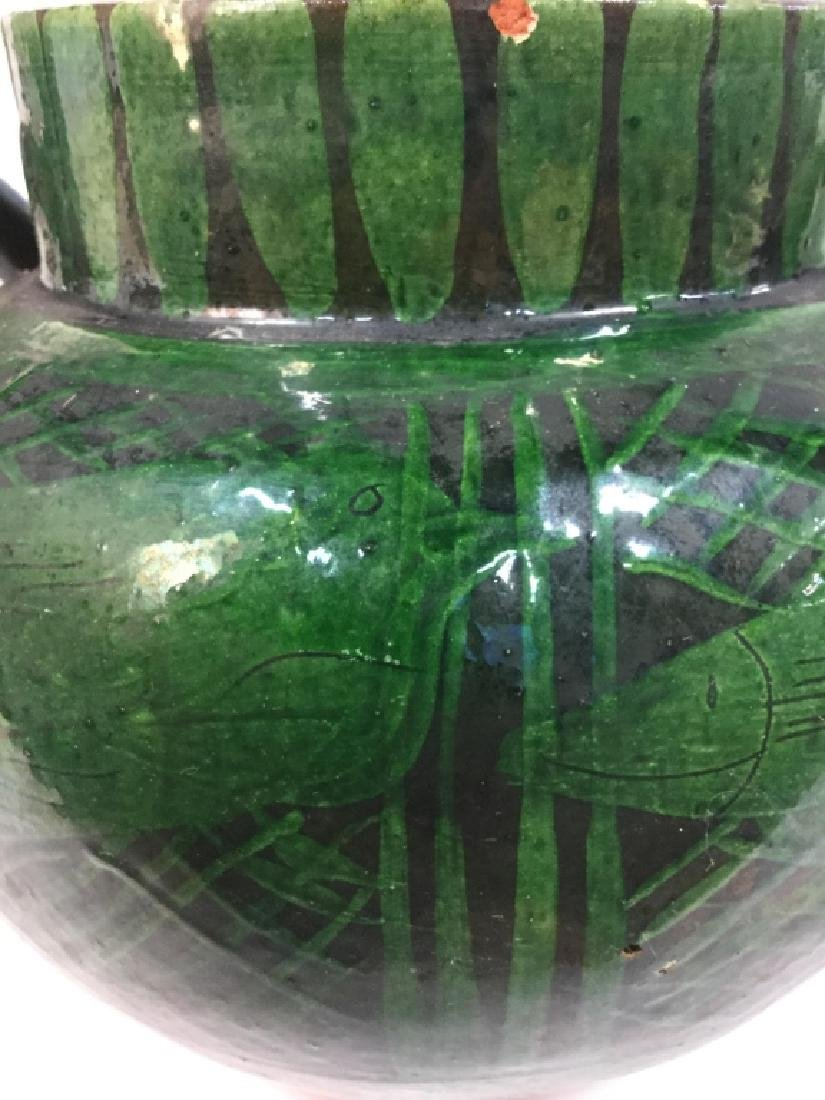 Hand Painted Ceramic Jug Handled Vase - 4