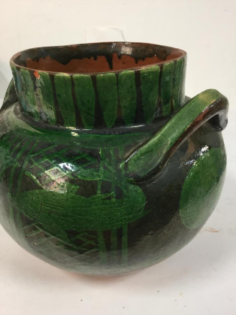 Hand Painted Ceramic Jug Handled Vase - 6