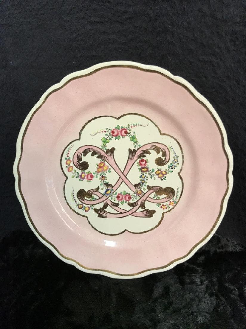 Lot 6 French Hand Painted Porcelain Dishes - 2