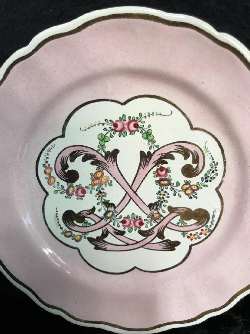 Lot 6 French Hand Painted Porcelain Dishes - 3