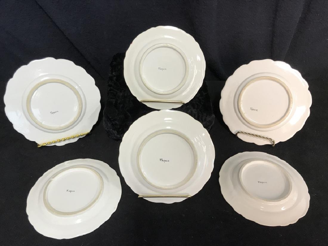 Lot 6 French Hand Painted Porcelain Dishes - 5