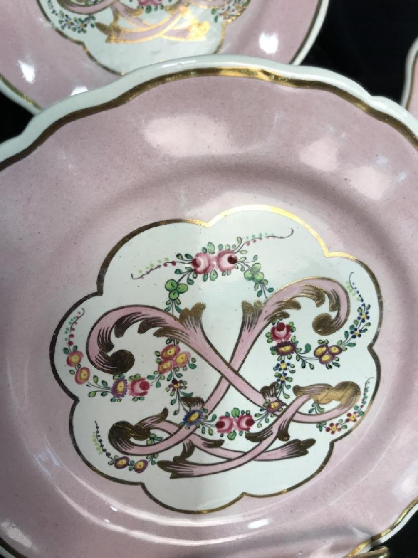 Lot 6 French Hand Painted Porcelain Dishes - 8