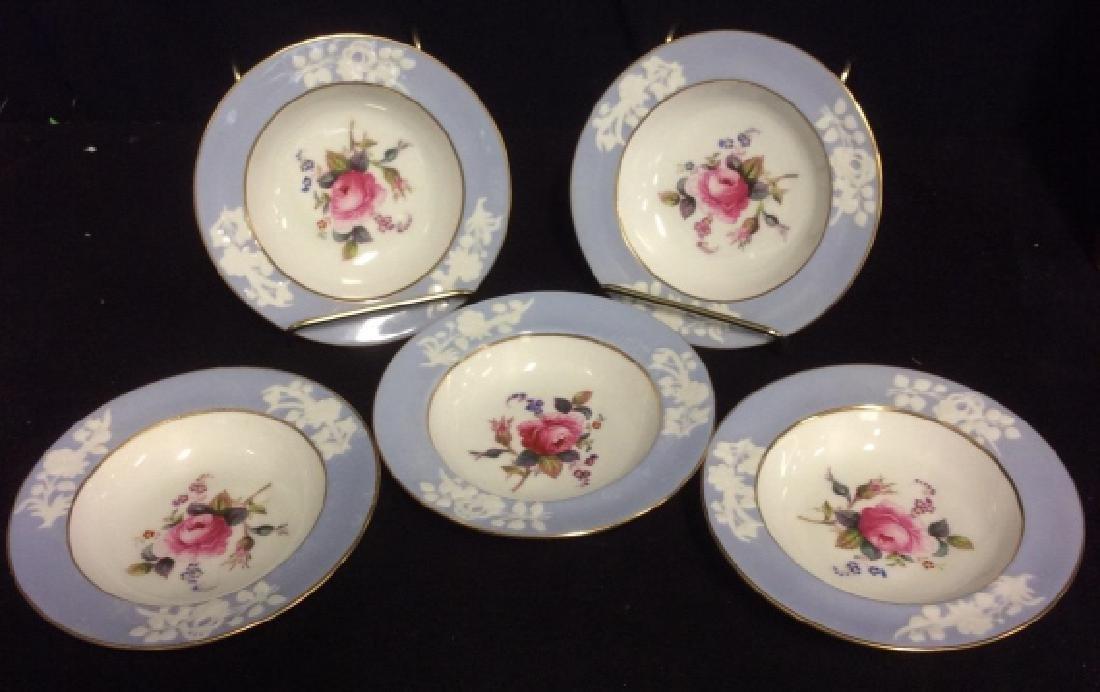 Set 5 England Copeland Porcelain Plates