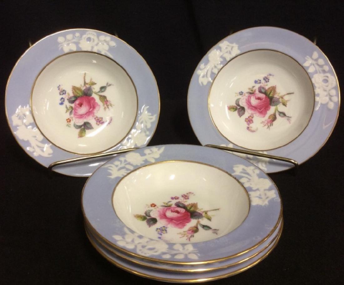 Set 5 England Copeland Porcelain Plates - 6