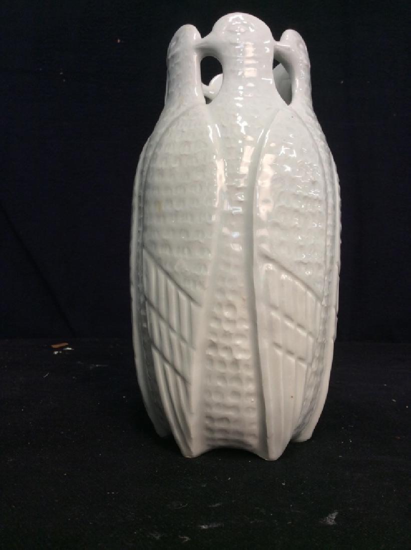 Vintage White Porcelain Bird Form Vase - 2