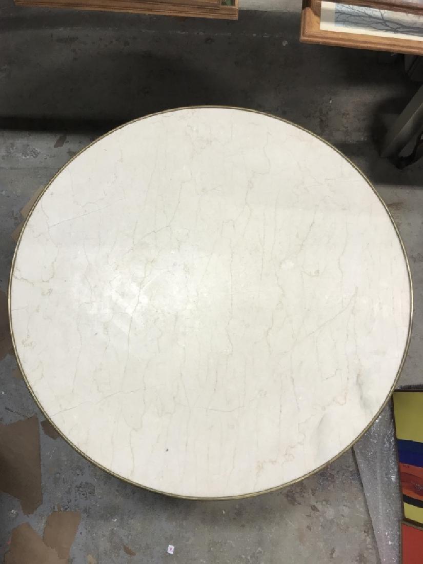 Vintage Ormolu w  Marbletop Round Coffee Table - 6