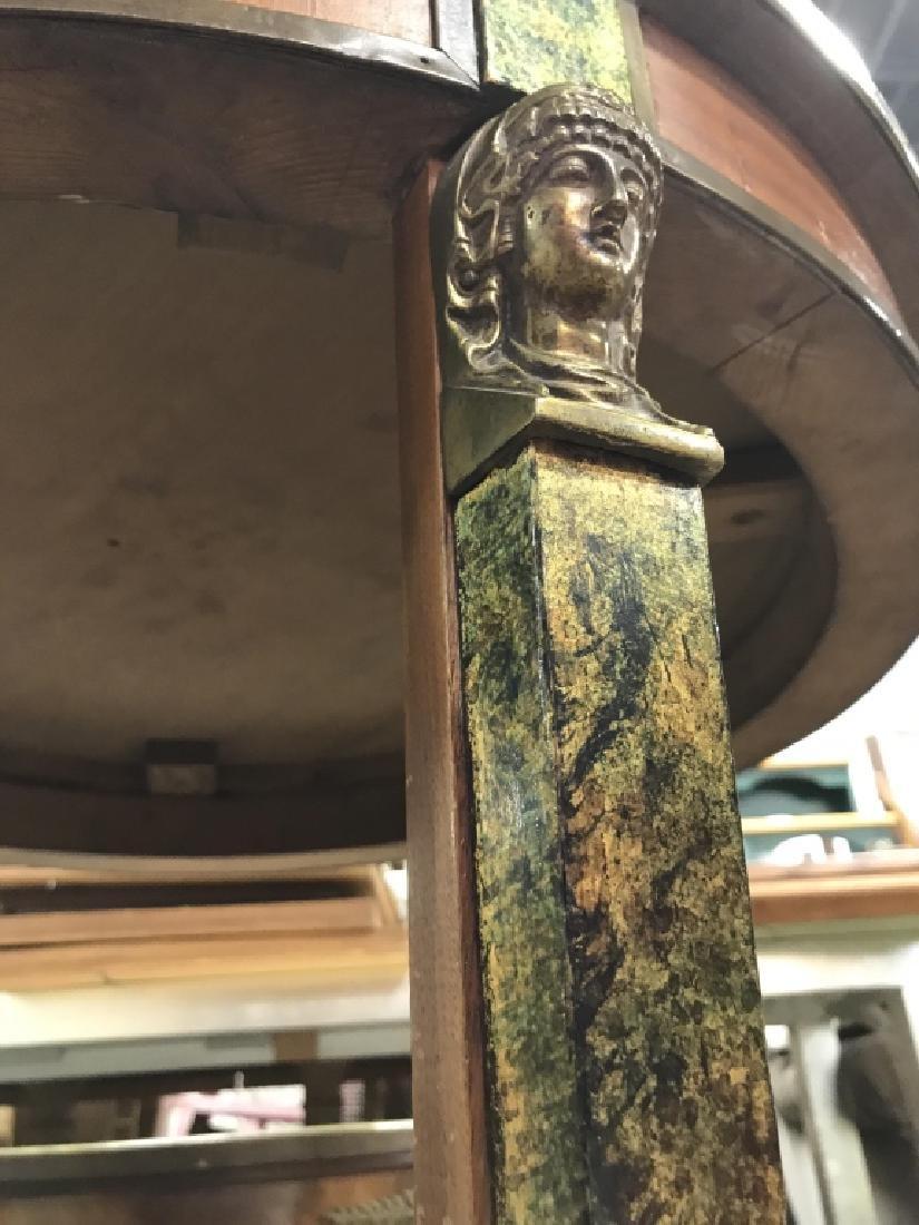 Cicular Wooden Empire Style Table w Ormolu mounts - 10